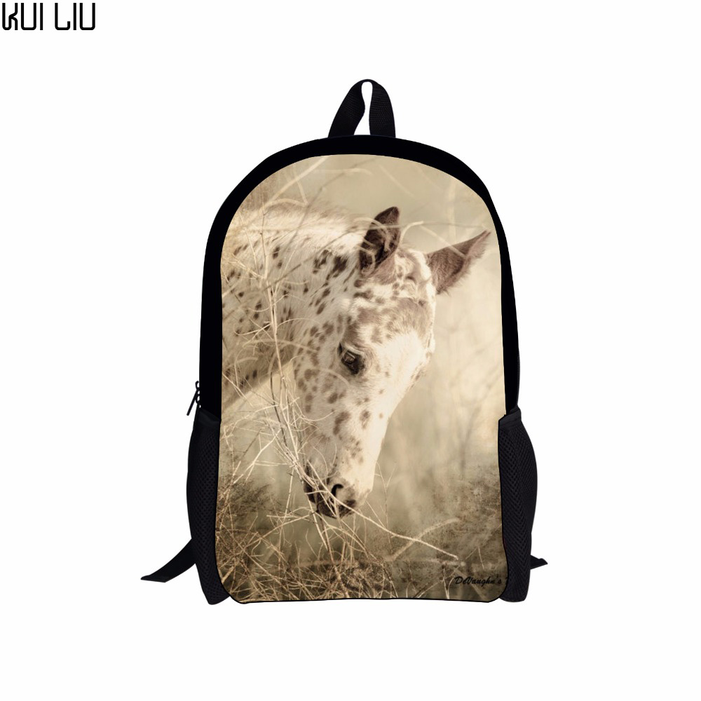 Customized School Bag For Women Man 3d Printed Aesthetical Horse Bag School Bags Boy Girl Book Bag Kids Backpack