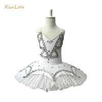 Girls Gymnastic Leotard Ballet Dancing Dress White Swan Lake Costume Ballerina Kids Ballet Dress Children Ballet