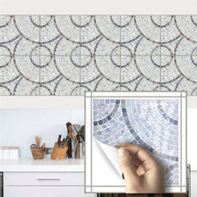 Vintage Square Self Adhesive Tile Stickers for Bathroom Kitchen Floor Furniture Home Decor PVC Waterproof Removable Art Decal