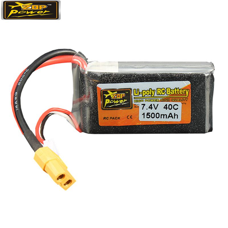Rechargeable Lipo ZOP Power 7 4V 1500mAh 40C 2S Lipo Battery XT60 Plug For RC Camera
