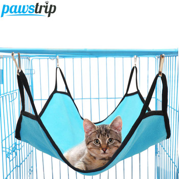 4 Colors Hanging Cat Hammock Beds Soft Fleece Hamster Rabbit Cage Beds 40*50cm