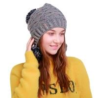 ChamsGend 2017 Hot Sale Women Warm Crochet Winter Wool Knit Manual Caps Hat Hairy Bulb Dropship