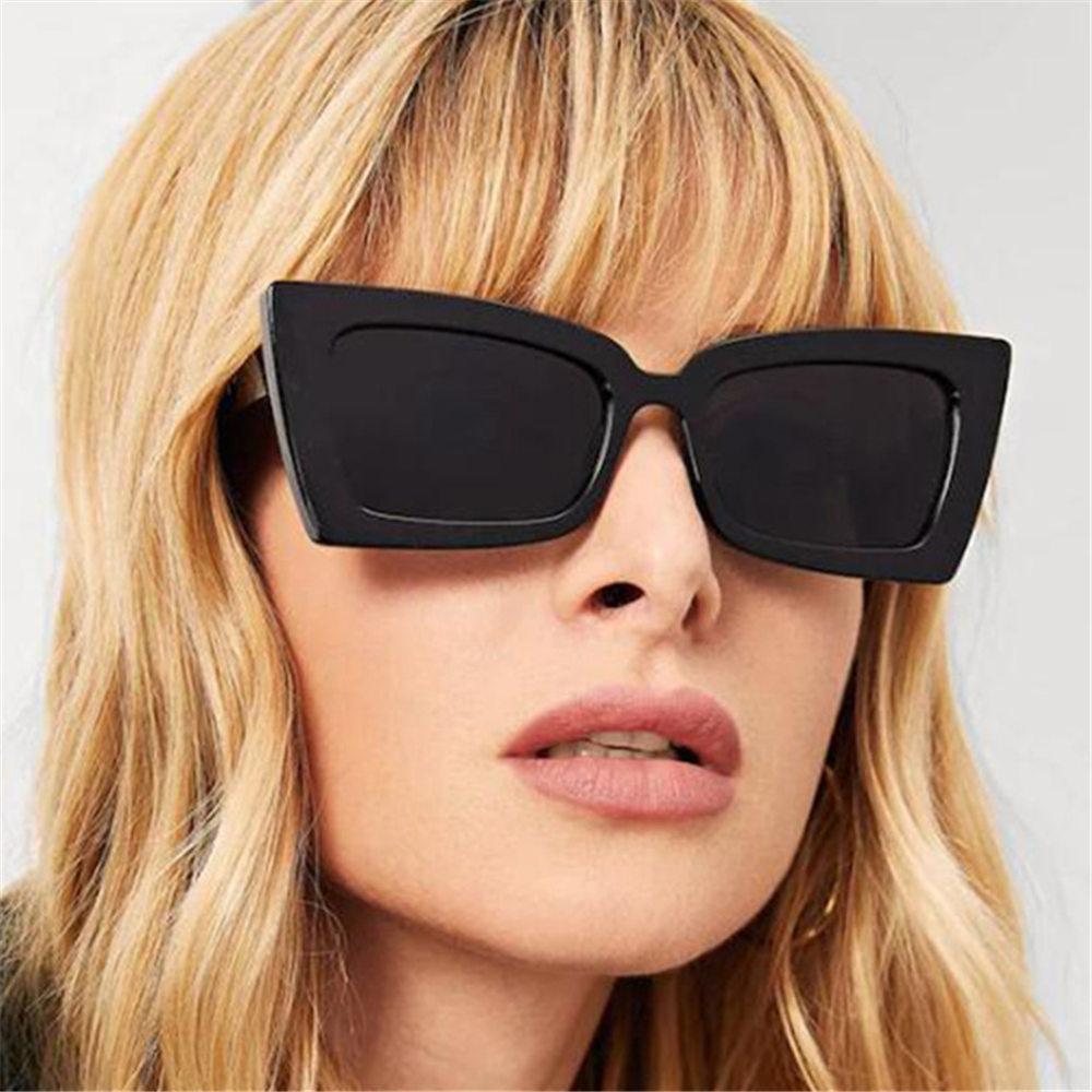 COOYOUNG-gafas de sol cuadradas para mujer, anteojos de sol con diseño de marca, Ojo de Gato, para viajes al aire libre, conducir, UV400