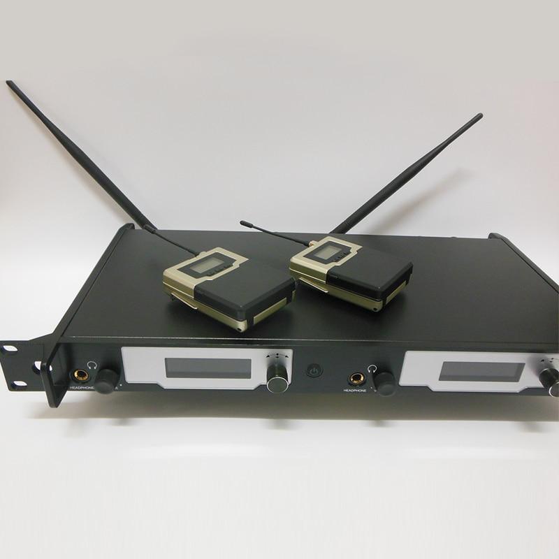 In-ear-monitor-system Professional UHF PLL Wireless In-Ear-Monitor 2 Sender 2 Empfänger Aktualisiert SR2050 drahtlose überwachung