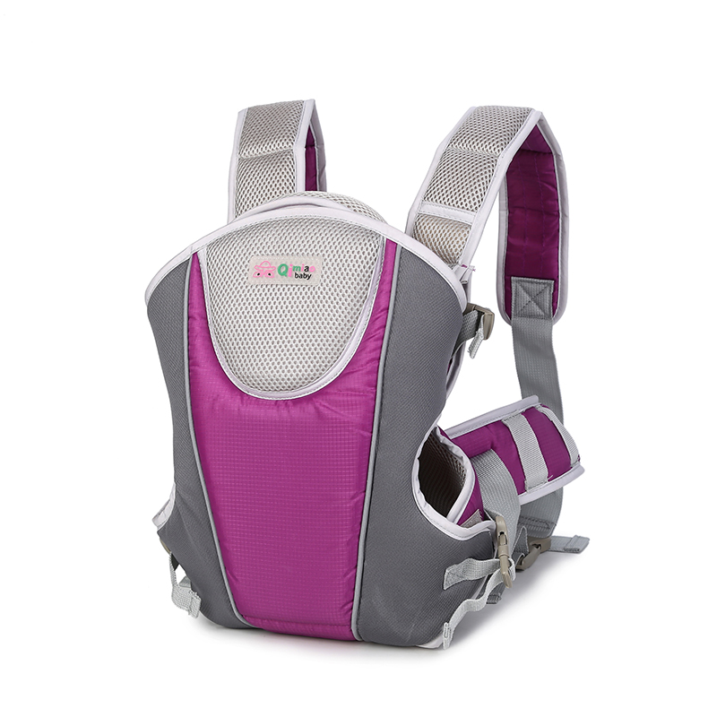Qimiao baby 3-24 Months Breathable Multifunctional Front Facing Baby Carrier Infant Comfortable Sling Backpack Pouch Wrap Baby