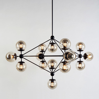 Modo Hanging Light/ 3/ 4/ 6 Sided Chandelier 5/ 10/ 15/ 21 Globes Balls by Jason Miller from Roll and Hill Lamp Lighting Fixture