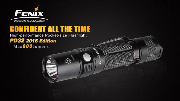2016 NEW Fenix PD32 Cree XP L HI white LED 6 free shipping LED Flashlights
