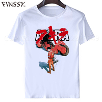 Akira Kaneda T Shirt 2017 Japanese Retro Anime White T Shirt Tee Mens Motorcycle Adults T