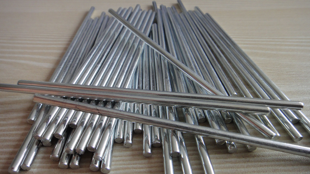 10pcs Lot New 3 100mm 10cm Long Steel Shaft Metal Rods