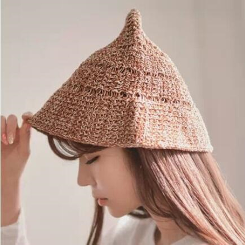 2017 The latest Han edition hats women hand-woven  hat Bow bucket  knittinghats Ms. folding  cap fisherman caps han edition spot qiu dong the day han2 ban3 girl gradient fashionable joker knitting wool hat
