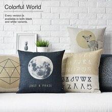 Северные творческий луна фэнтези животных подушка подушки толщиной в белье наволочка диванную подушку главная декоративные подушки