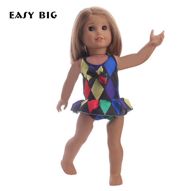 dc04b8746 EASY BIG American Girl Doll Clothes Set Swimming Suit for 18 Inch Doll Suit  Set Fit