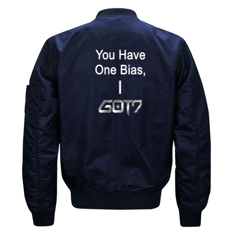Funny Kpop Got7 Meme Bomber Jacket for Women and Men Cute Girls Korean Boy Band You Got One Bias I Got 7 Jackets Plus Size S-5XL 3