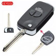Keyecu Replacement Shell 2 Button Modified Folding Remote Case Fob for Suzuki Vitara Swift Ignis SX4 Liana Alto