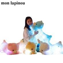 50cm 85cm LED light bear toy stuffed animal plush light up teddy bear doll luminous pillow kids toys gift for her