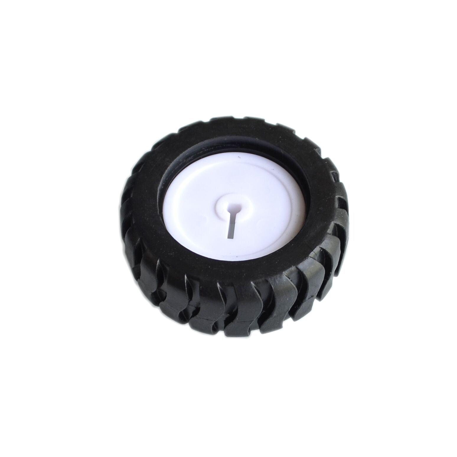 10PCS/LOT K346 43*19*3mm D-hole Rubber Wheel Suitable For N20 Motor D Shaft Tire Car Robot DIY Toys Parts