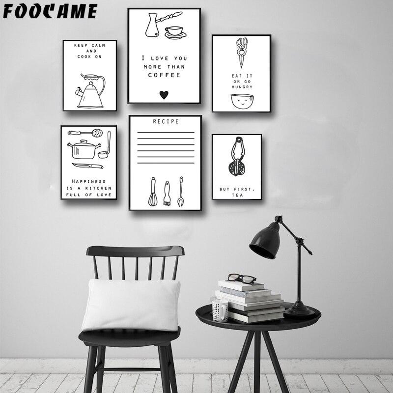 Foocame Dos Desenhos Animados Faca De Mesa Minimalismo Cartazes E