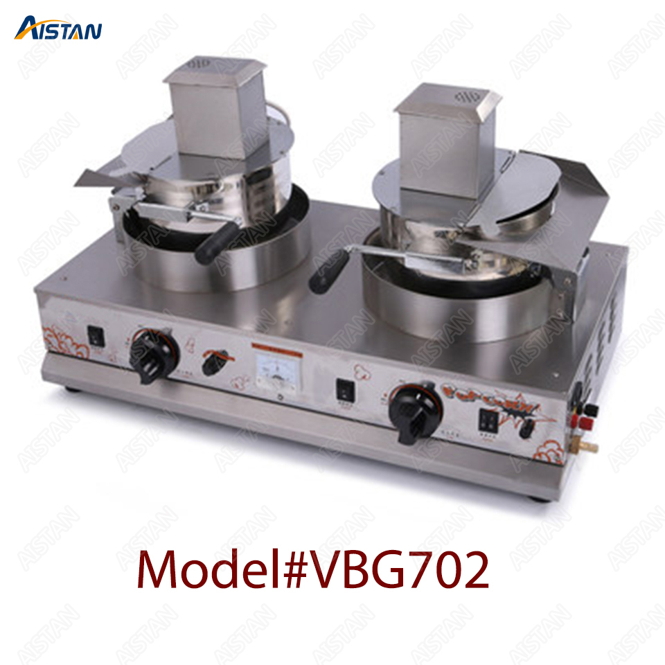 VBG701/VBG702 commercial stainless steel single head/double head gas popcorn machine for kitchen equipment 2