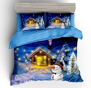 Image 2 - Wazir 3D Kerst Print Bedding Set Dekbedovertrek Kussenslopen Trooster Beddengoed Sets Thuis Textiel Beddengoed Beddengoed