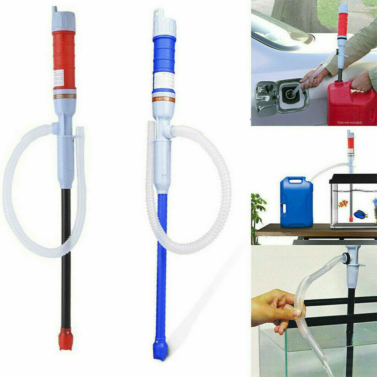 Handheld Liquid Fuel Syphon Pump Automatic Transfer Gas Oil Water Battery Electric Supply US