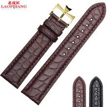 Laopijiang группа часы кожи мужской аллигатор для импортные VC мода ремешок accessories18 / 19 / 20 мм