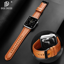 DUX DUCIS Genuine leather loop strap for apple watch band 4 42mm 38mm watchband iwatch 44mm 40mm 3/2/1 bracelet accessories