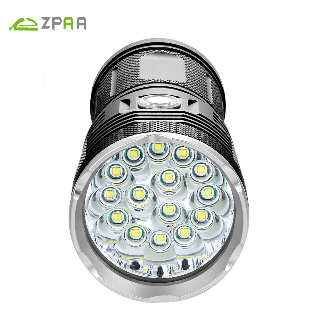 ZPAA 25000 Lumens XML-T6 LED Flash Light 12*XM-L T6 18650 LED Flashlight Torch Lamp Light For Hunting Camping Fishing Cycling 12000 lumens flashlight super bright torch 12 x xml t6 led hunting fishing lamp for biking camping home repairing