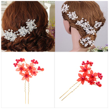 Crystal Flower Hair Pins