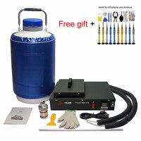 FS 06 liquid nitrogen frozen lcd Separator machine built in oil free pump with 10L liquid nitrogen tank 300W