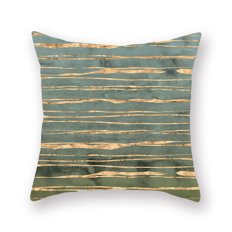 Nordic Geometry Cushion Cover Stripe Wave Point Pattern Polyester Pillow Covers Home Decor for Living Room Sofa Bedroom 45 45cm in Cushion Cover from Home Garden