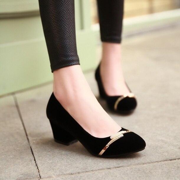 Zapatos negros Tacón cono para mujer 1Fyke