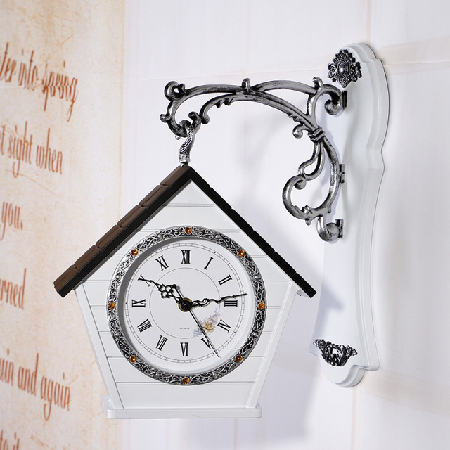 SB118 14 Inch Two Sided Wall Clock Modern Design Time Watch Large