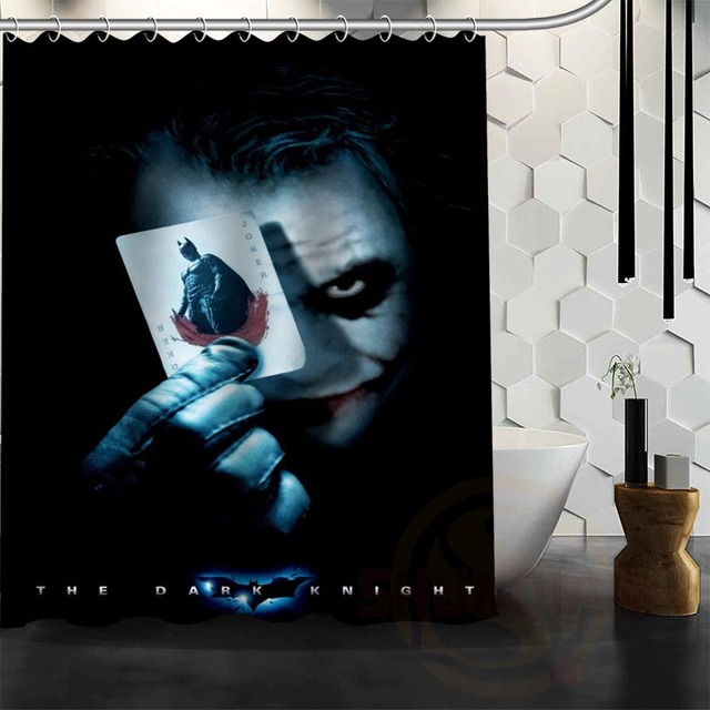 Best Nice Custom Joker And Harley Shower Curtain Bath Waterproof Fabric For Bathroom MORE SIZE WJY51