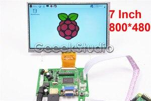7 inch 800*480 LCD Monitor Display Screen with Driver Board HDMI VGA 2AV for Raspberry Pi 3 / 2 Model B(China)