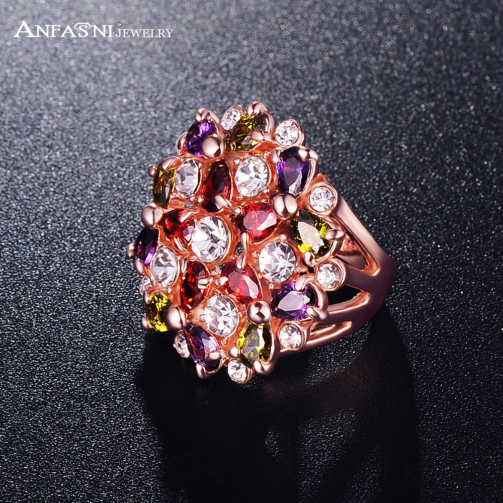 anfasni big gold plate multicolor flower shape