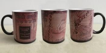 Hogwarts mugs Marauders Map mug mischief managed mug morphing coffee mugs novelty heat changing color transforming Tea  harry potter mug marauders map