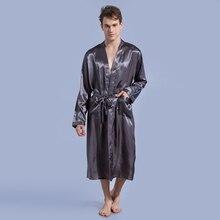 Sexy Long Silk Robe for Men