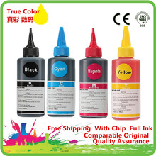 4 x 100ml  Dye Ink For T1711/T1811/T1281/T0921/T0711/T0731/T0481/T0821/T1291/T2621 For Epson All Inkjet Printer Bulk Ink