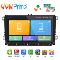 AMPrime Car Radio Android 9inch Car Stereo Radio GPS Navigation Auto Meltimedia Player for Passat Golf MK5 MK6 T5 EOS POLO Tour
