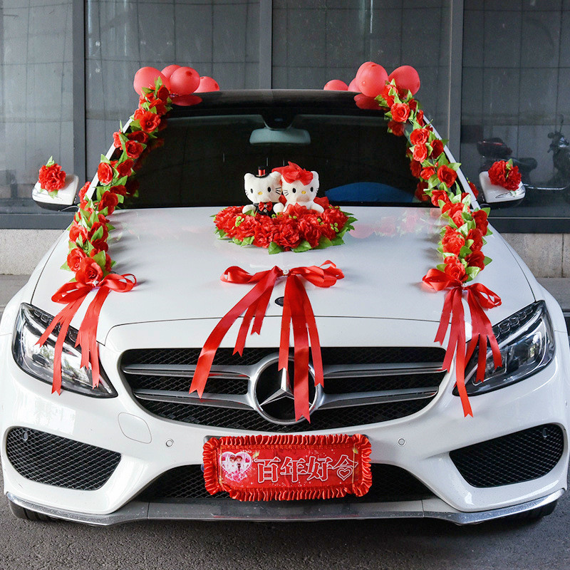Искусственные цветы, свадебное украшение автомобиля, искусственные цветы, набор, декоративные цветы, венки, плавающий декор, свадебная композиция R93 - 3
