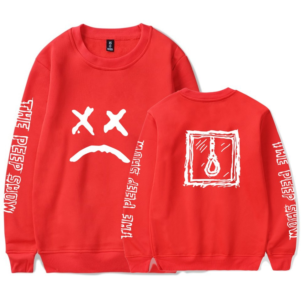 Printed Long-Sleeved T-Shirt,Digital Print Couple Comfortable Sweatshirts Exercise Fitness and Tights Sports Lil Peep
