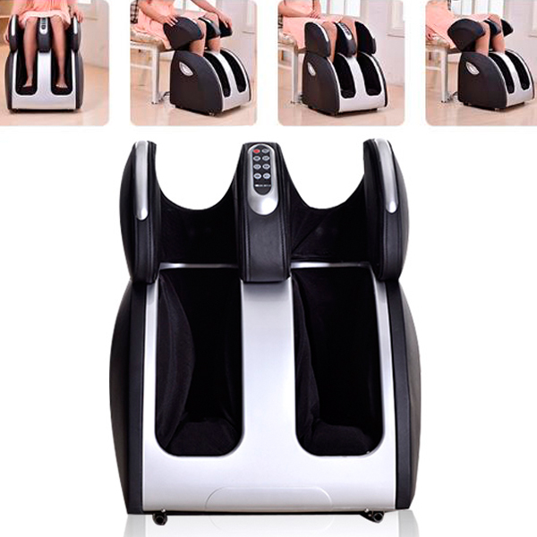 Wholesale Airbag Wrap Foot Machine Foot Massager Shiatsu Foot Rub Infrared Heating Therapy Machine Free Shipping electric antistress therapy rollers shiatsu kneading foot legs arms massager vibrator foot massage machine foot care device hot