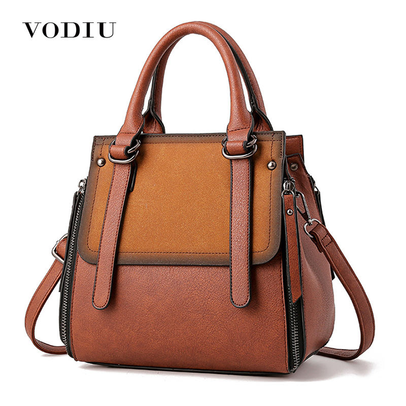 Women Bag Female Handbags Retro Leather Over Shoulder Bag Crossbody High Quality Handbag Girls Zipper Casual Vintage Tote Bags цена
