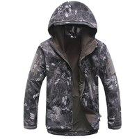 QiyuanLS Men Soft Shell Jackets Lurker Shark Skin Military Tactical Softshell Jacket Men Windbreaker Waterproof Hoodie