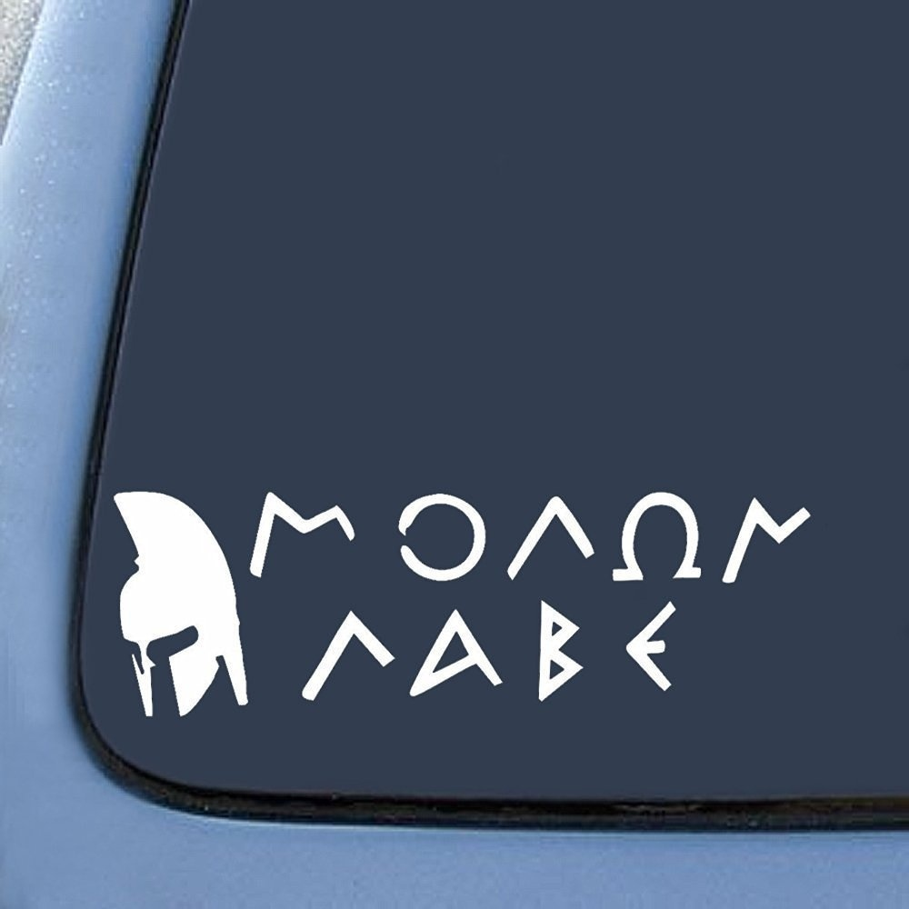 Molon Labe With Spartan Sticker Decal Notebook Sticker Laptop Sticker 8