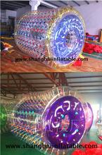 Hot sale Giant Inflatable Roller Zorb Walking Water Ball With Free Air Blower Free Shipping ( 2.5M dia *2.8M length)