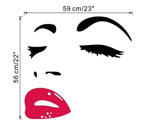 New Arrival Diy Beautiful Girl Eyes And Lips Wall Art