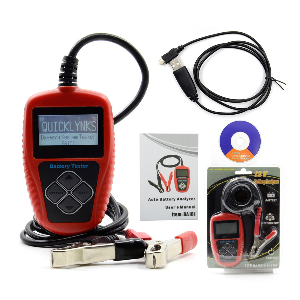 Original Auto Battery Tester QUICKLYNKS BA101 Automotive 12V Vehicle Car Battery Tester BA101 Car Battery Analyzer