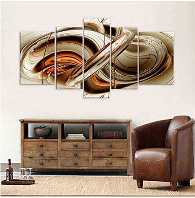 5 Pcs Large HD Canvas Art Print Abstract Syrup Modern Canvas Wall ...