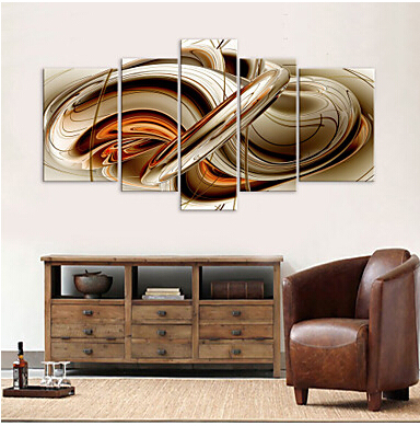 5 pcs large hd canvas art print abstract syrup modern canvas wall picture for living room